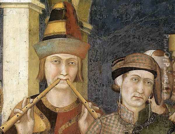 St. Martin is Knighted (detail-4) 1312-17 Oil Painting - Louis de Silvestre