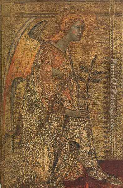 The Angel of the Annunciation (2) 1333 Oil Painting - Louis de Silvestre