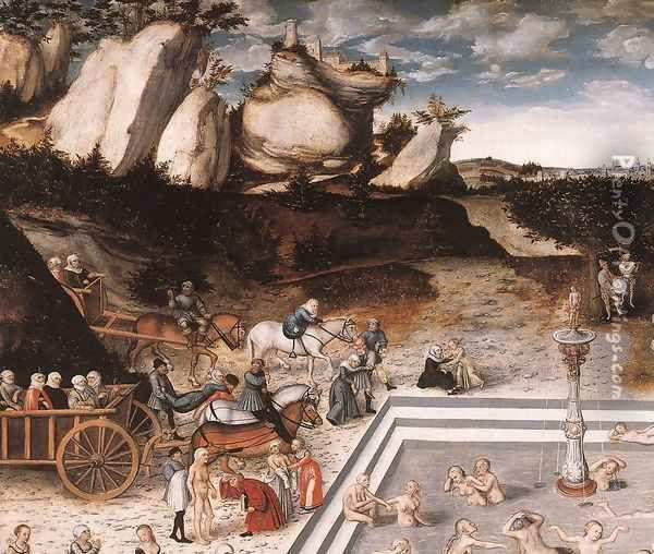 The Fountain of Youth (detail 1) 1546 Oil Painting - Lucas The Elder Cranach