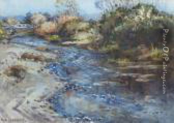 A Fast Flowing Stream Oil Painting - Margaret Olrog Stoddart