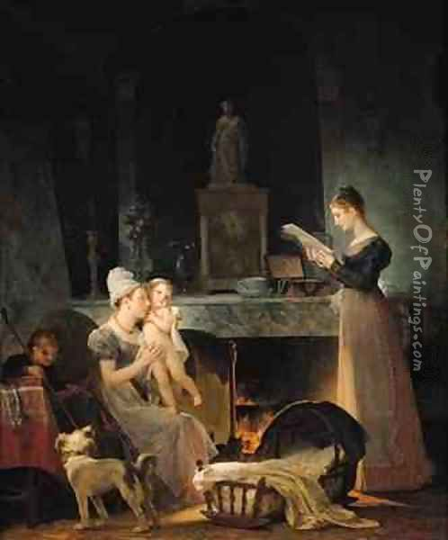 Reading the Letter 2 Oil Painting - Marguerite Gerard