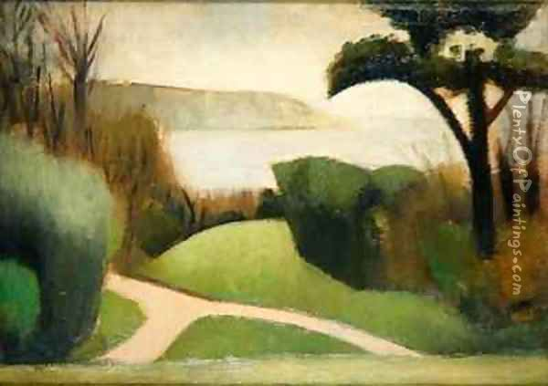 Near Swanage Oil Painting - Mark Gertler