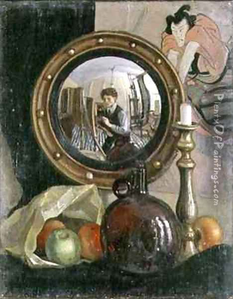 Still Life with Self Portrait Oil Painting - Mark Gertler