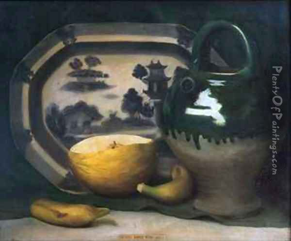 Still life with melon Oil Painting - Mark Gertler