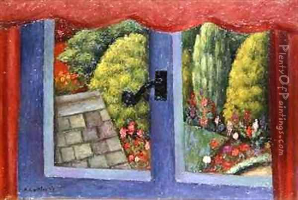 Through the Window Oil Painting - Mark Gertler