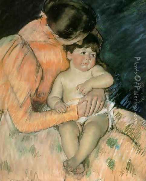 Mother And Child3 Oil Painting - Mary Cassatt