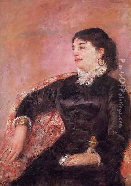 Portrait Of An Italian Lady Oil Painting - Mary Cassatt