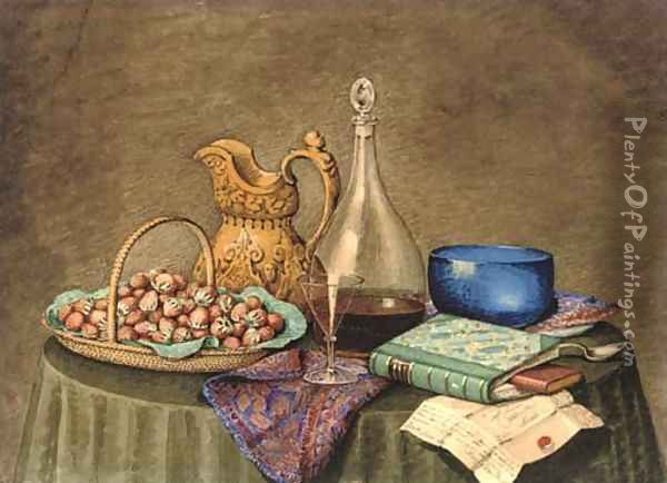 The ingredients for a summer picnic Oil Painting - Mary Ellen Best