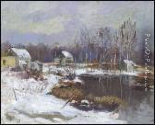 Winter, Beaupre Oil Painting - Maurice Galbraith Cullen