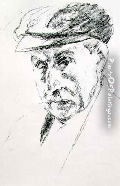 Portrait of a Man in a Cap, possibly self portrait, after 1923 Oil Painting - Max Liebermann