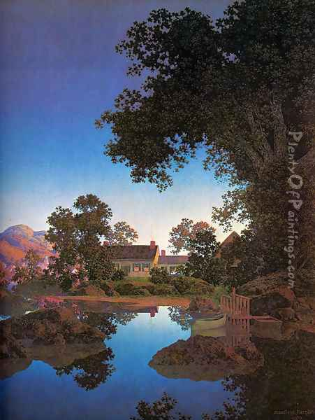 Evening Shadows Oil Painting - Maxfield Parrish