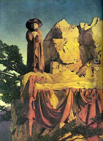 Scene of Snow White Oil Painting - Maxfield Parrish