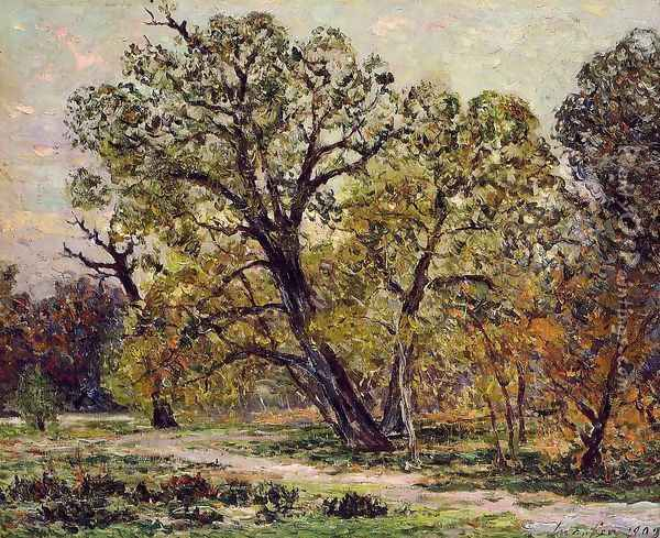 Autumn, Fontainebleau Forest Oil Painting - Maxime Maufra