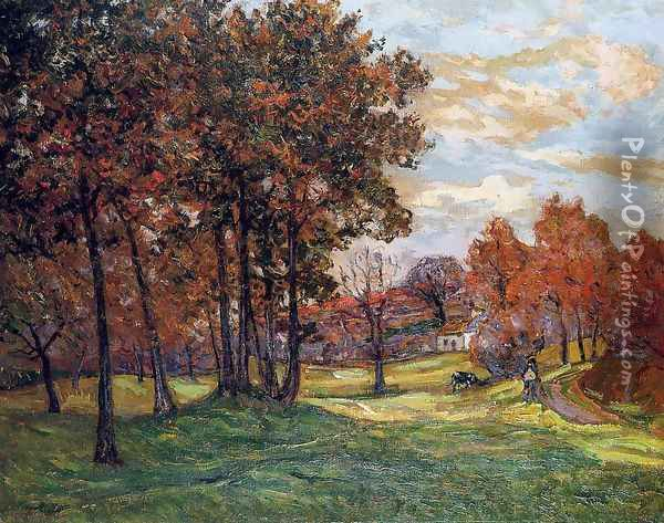 Autumn Landscape at Goulazon, Finistere Oil Painting - Maxime Maufra
