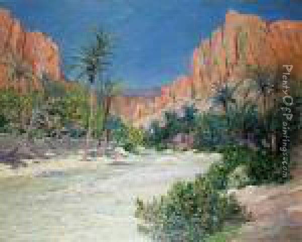Morning In The Oasis Of Alkantra Oil Painting - Maxime Maufra