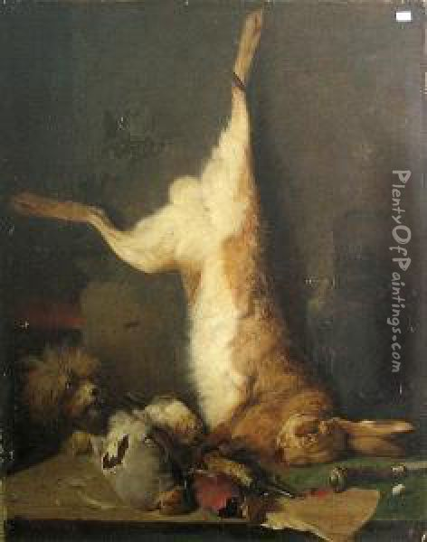 A Still Life With Dead Game Oil Painting - Meno Muhlig