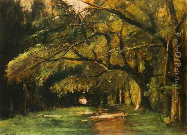 Park in Colpach 1886 Oil Painting - Mihaly Munkacsy