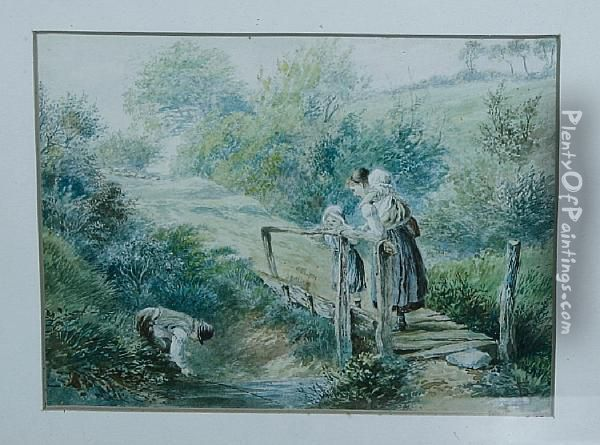 Framed And Glazed Oil Painting - Myles Birket Foster