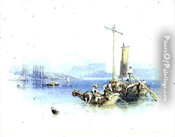Lake Como Italy Oil Painting - Myles Birket Foster