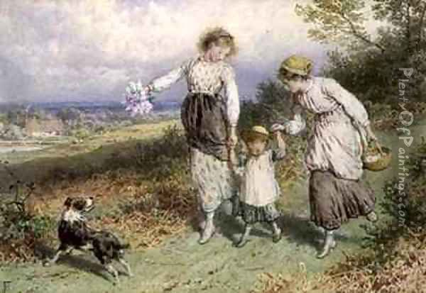 Returning from the Village Oil Painting - Myles Birket Foster