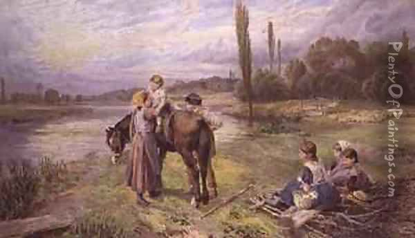The Ride on the Pony Oil Painting - Myles Birket Foster