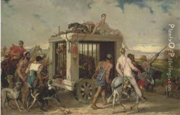 The Travelling Circus Oil Painting - Noel Saunier