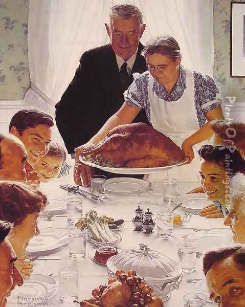 Freedom from Want Oil Painting - Norman Rockwell
