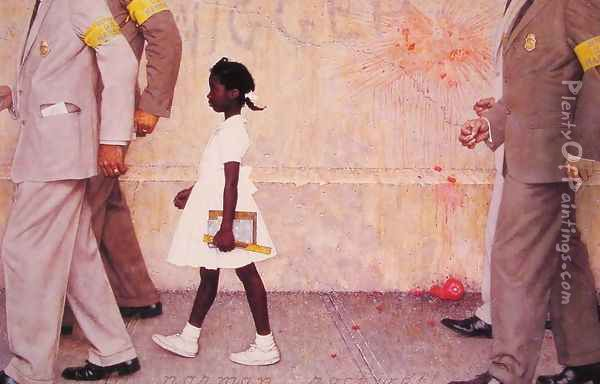 The Problem We All Live With Oil Painting - Norman Rockwell