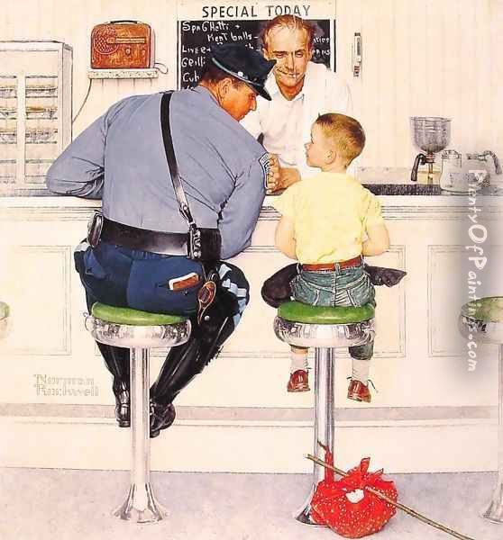 The Runaway Oil Painting - Norman Rockwell
