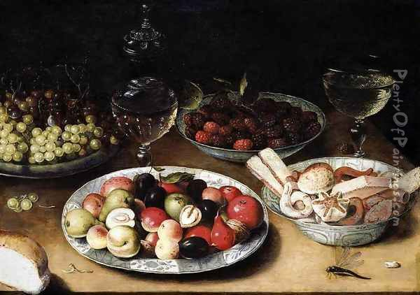 Still-Life of Fruit 1610s Oil Painting - Osias, the Elder Beert