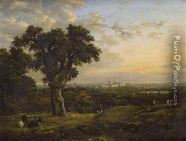 A View Of Windsor Oil Painting - Patrick, Peter Nasmyth