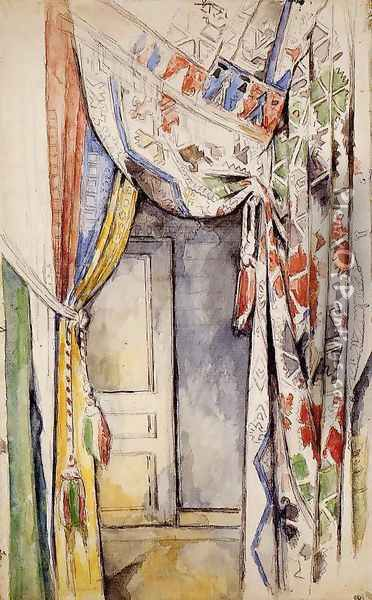 Curtains Oil Painting - Paul Cezanne