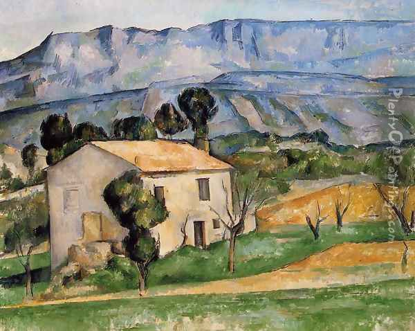 Houses In Provence Near Gardanne Oil Painting - Paul Cezanne