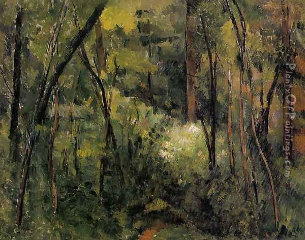 In The Woods Oil Painting - Paul Cezanne