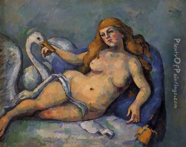 Leda and the Swan Oil Painting - Paul Cezanne