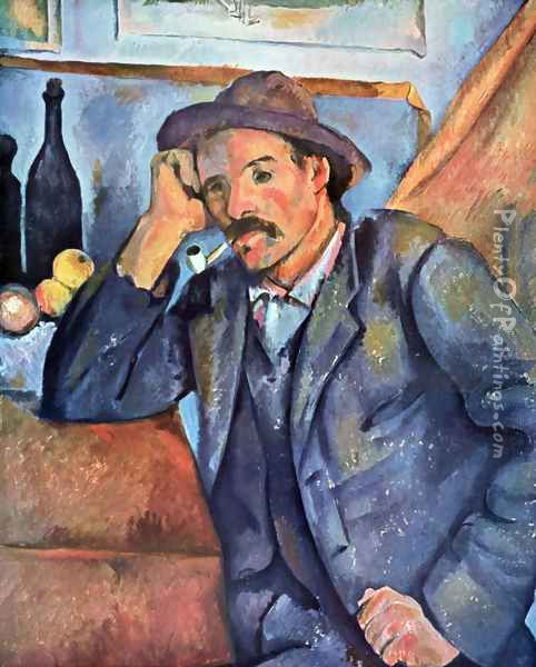 Man with the whistle Oil Painting - Paul Cezanne