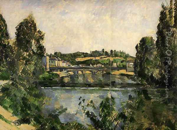 The Bridge And Waterfall At Pontoise Oil Painting - Paul Cezanne