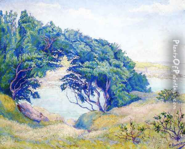By the Sea, Brittany Oil Painting - Paul-Elie Ranson
