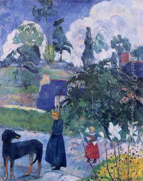 Among The Lillies Oil Painting - Paul Gauguin