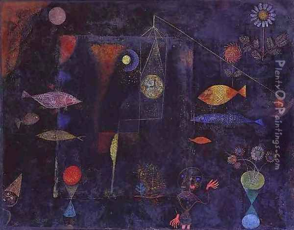 Fish Magic Oil Painting - Paul Klee