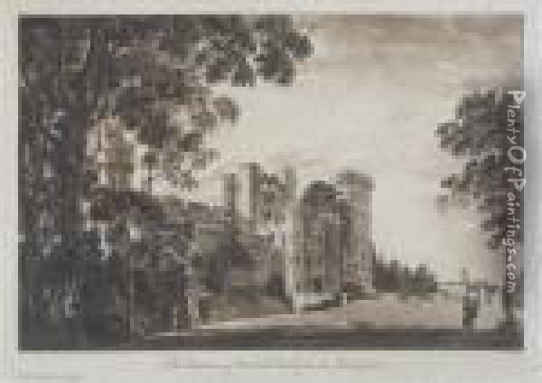 Three Views Of Warwick Castle Oil Painting - Paul Sandby