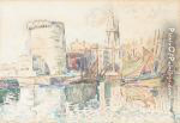 La Rochelles Oil Painting - Paul Signac