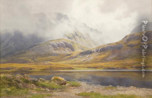 Loch Maree Oil Painting - Percy Dixon