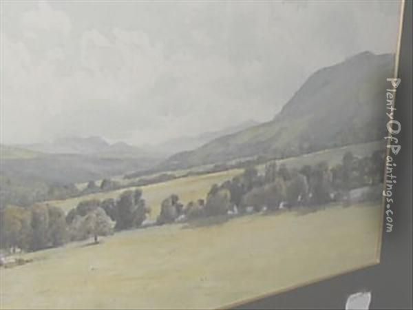 Tummel Valley From Dundarach Oil Painting - Percy Dixon