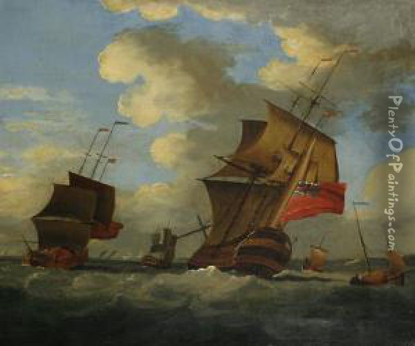 Shipping Scene Oil Painting - Peter Monamy