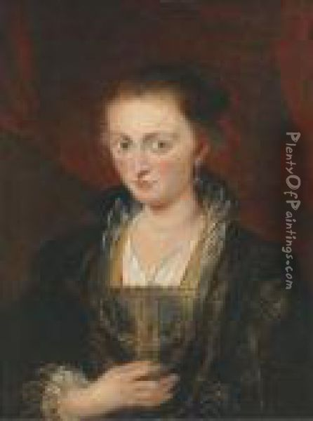 Portrait Of A Lady Oil Painting - Peter Paul Rubens