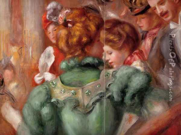 A Box In The Theater Des Varietes Oil Painting - Pierre Auguste Renoir