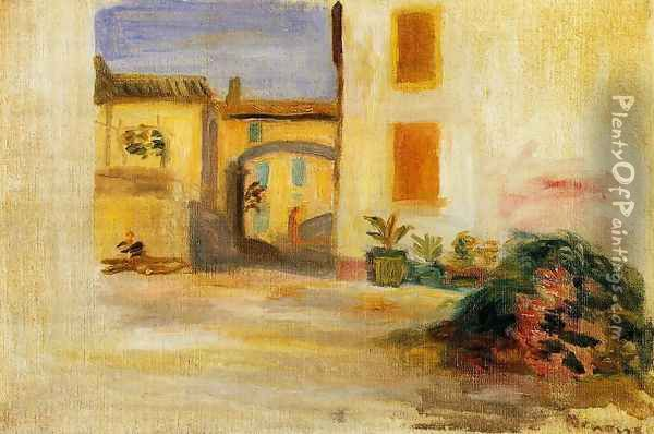Farm Courtyard Midday Oil Painting - Pierre Auguste Renoir
