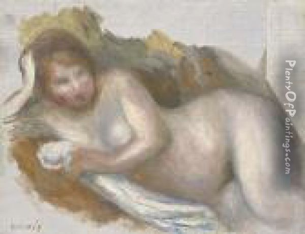 Femme Nue Allongee Oil Painting - Pierre Auguste Renoir