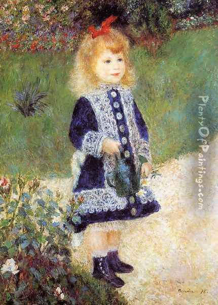 Girl With A Watering Can Oil Painting - Pierre Auguste Renoir
